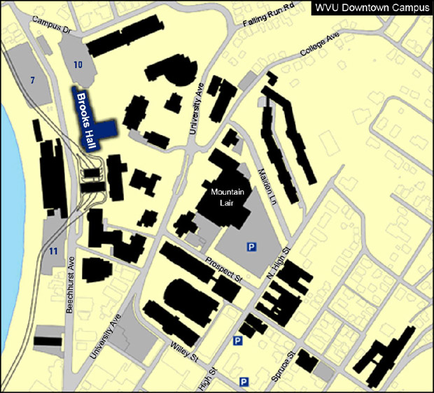 Downtown Campus Map Wvu.Wvgistc About